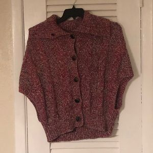 American Eagle cable knit poncho/cape sweater